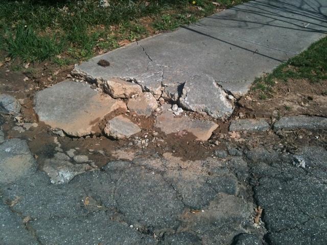 Sidewalk hazard