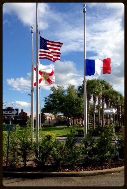 Flags at Lake Eva Park