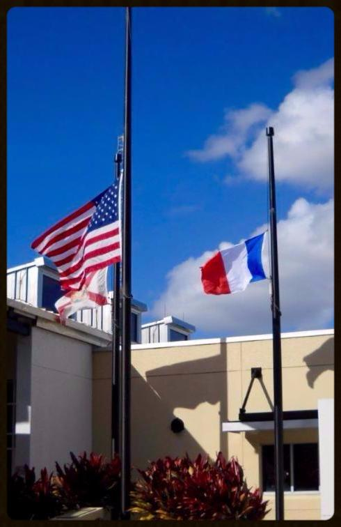 Flags at the Police Department