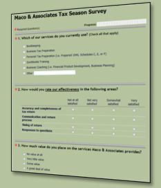 Tax Season Survey