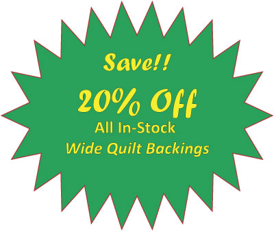 Save on Quilt Backings