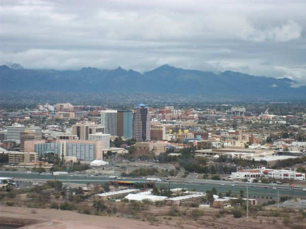 Tucson from A Mountain