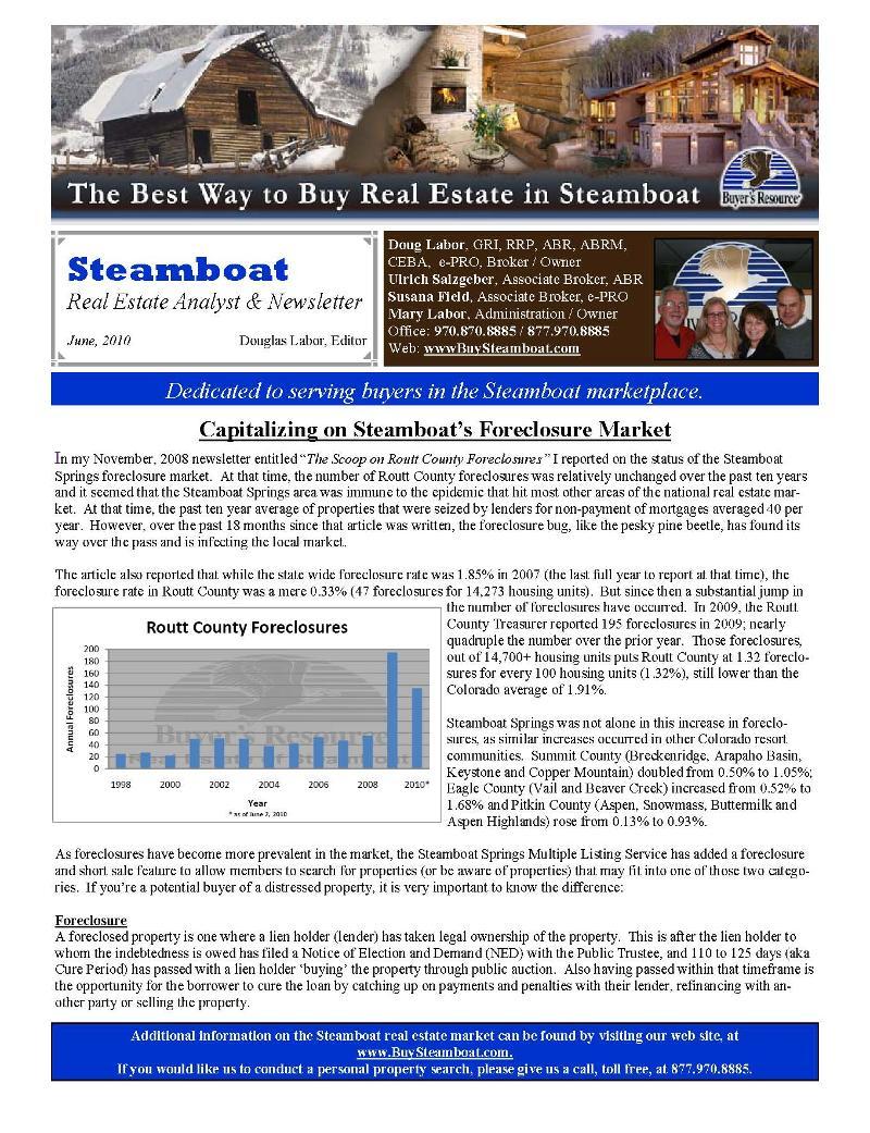 june newsletter 2010