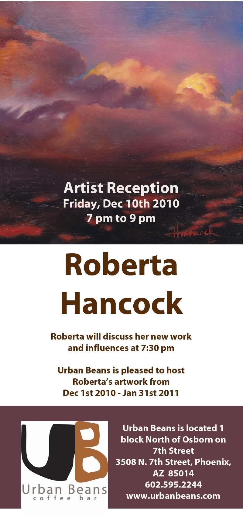 Roberta Hancock at Urban Beans