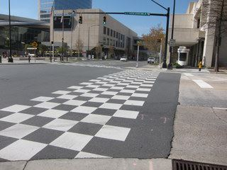 checkered crosswalk