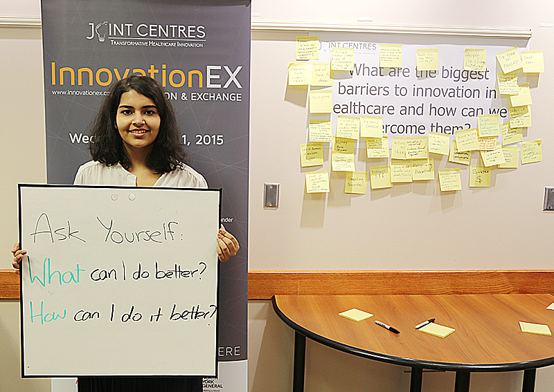 During InnovationEx, participants could share ideas on some of health care's most pressing questions at the Idea Cafe.