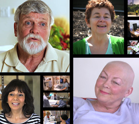 The Cancer & Me series features  4 stories of people diagnosed with cancer.