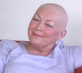 Pat Mackey shared her palliative care experience on video.