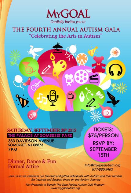 2012 MyGOAL Autism Gala Flyer