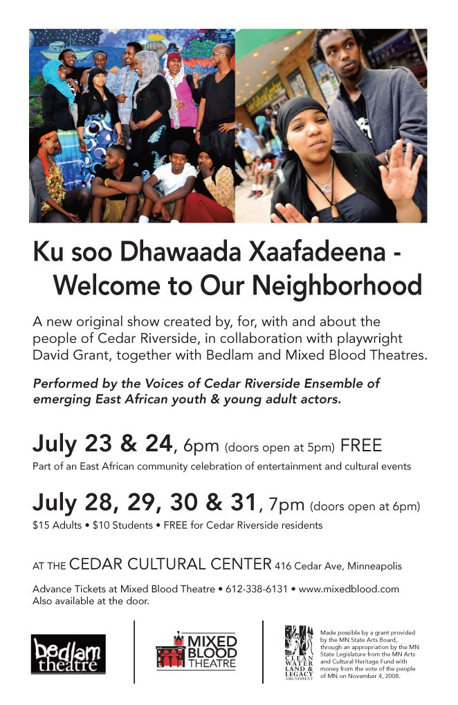 Welcome to Our Neighborhood flyer