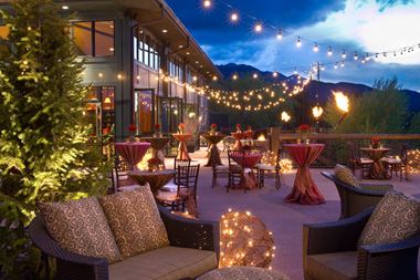Nightime patio photo at The Broadmoor