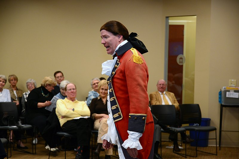 Photo of Benedict Arnold re-enactment at OLLI at Furman U