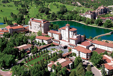 Broadmoor Hotel aerial photo