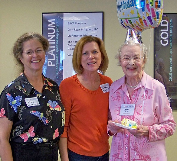photo of Auburn U OLLI member celebrating 90th birthday