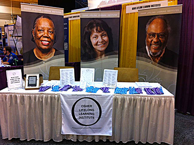 OLLI booth at New Orleans AARP expo Sept 2012