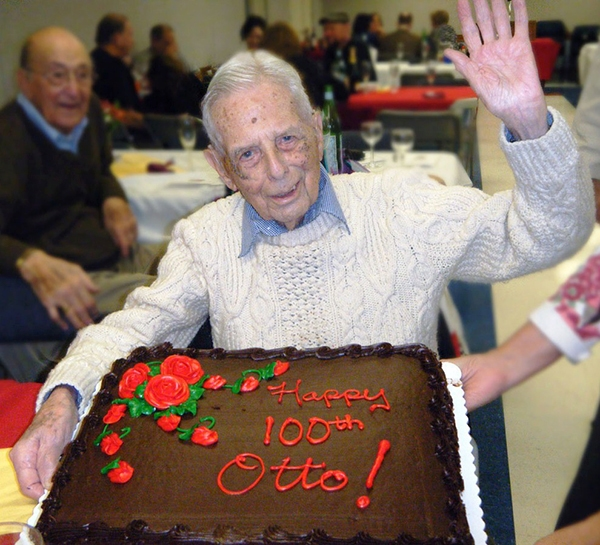 Photo of Otto Ross celebrating his 100th birthday.