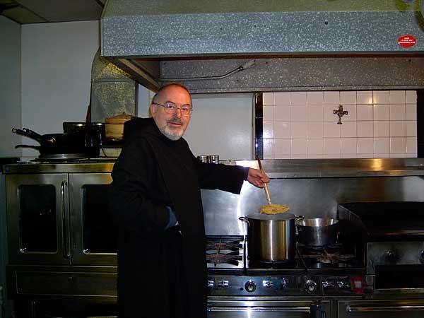 Fr Nicholas in kitchen