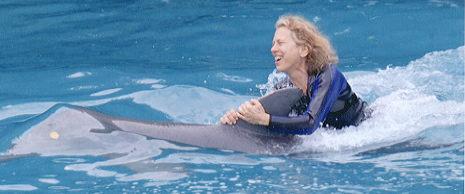 jane riding dolphin