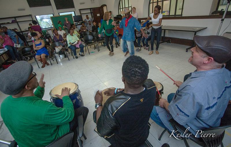 Daniel Moise demos djouba dance.