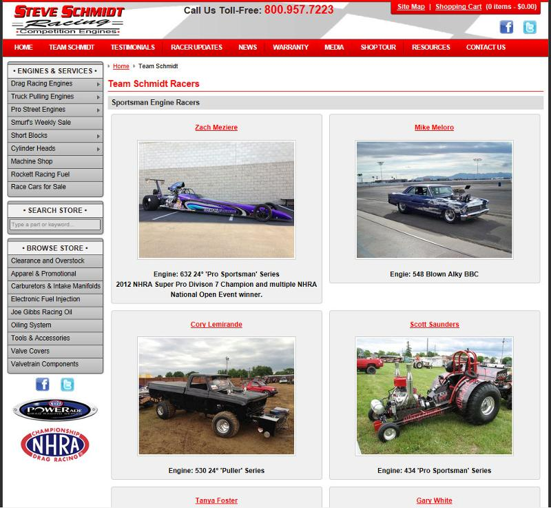 Steve Schmidt Competition Engines August Newsletter