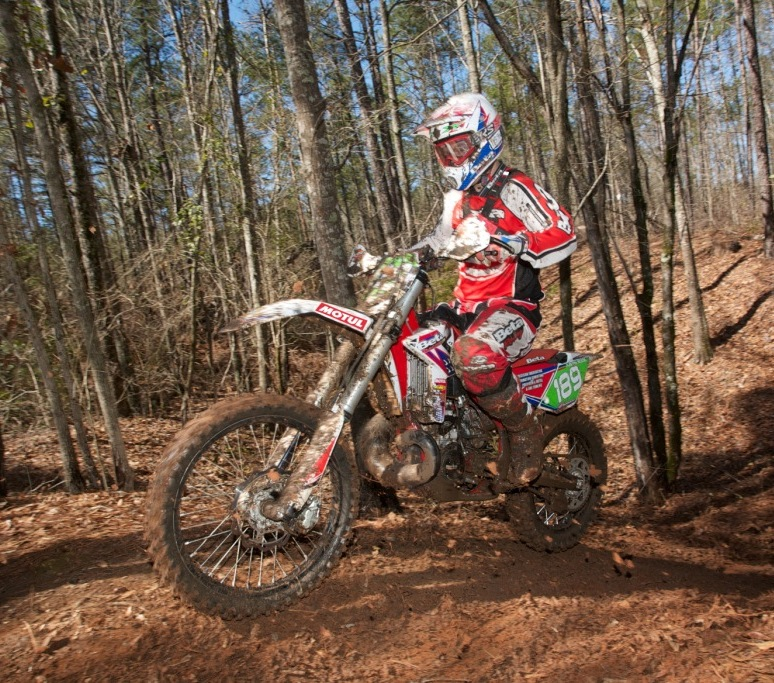 justin sode at the national hare scramble