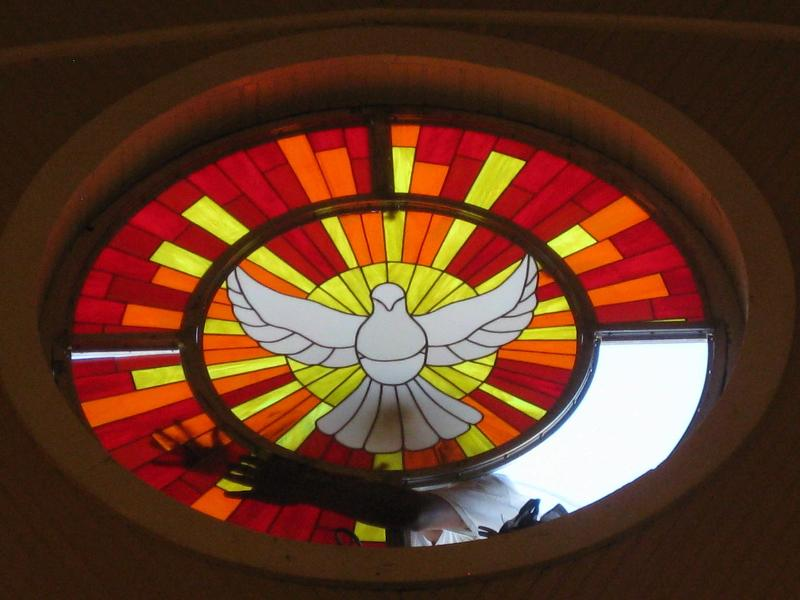 Stained Glass window installed in Holy Redeemer Church in July 2010