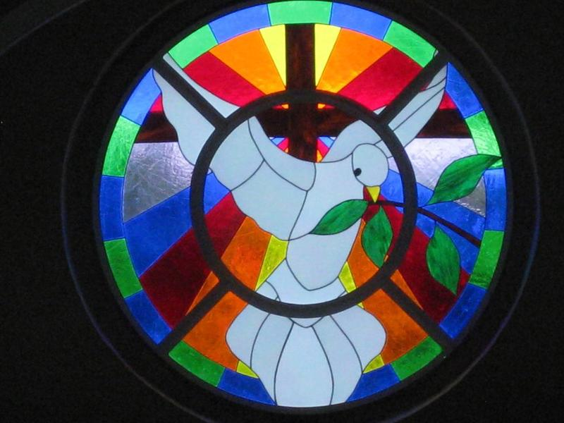 St John's Cathedral stained glass window installed June 2010