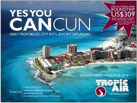 Tropic Air starts flights to Cancun soon!