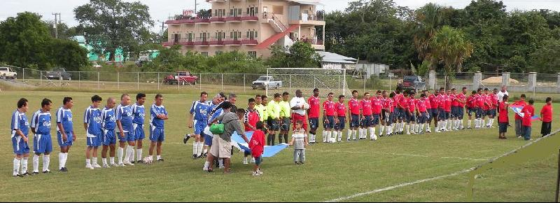 Veteren teams El Salvador vs Belize game ended 2 - 1
