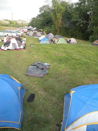 Campers at Banana Bank for Ruta Maya River Challenge 2009