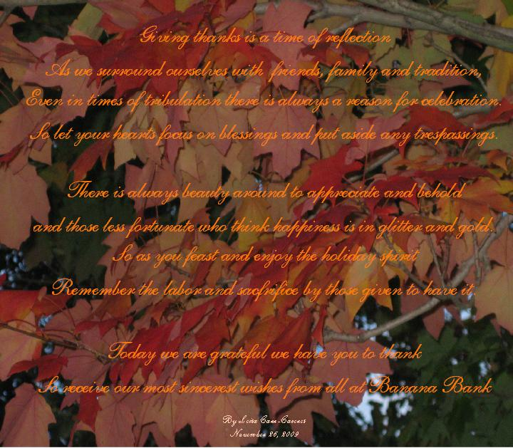 Thanksgiving poem 2009