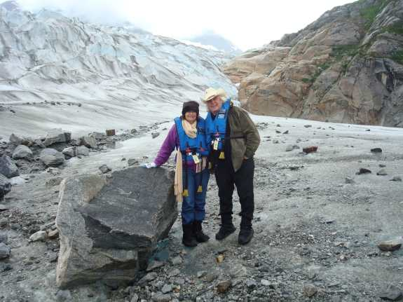John & Carolyn on Taku Glacier
