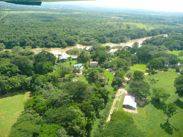 Bird's eye view of Banana Bank Lodge