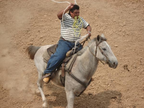 Eddie roping at NATS 2008