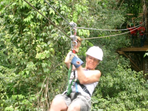 Sundee Carr zipping through the canopy