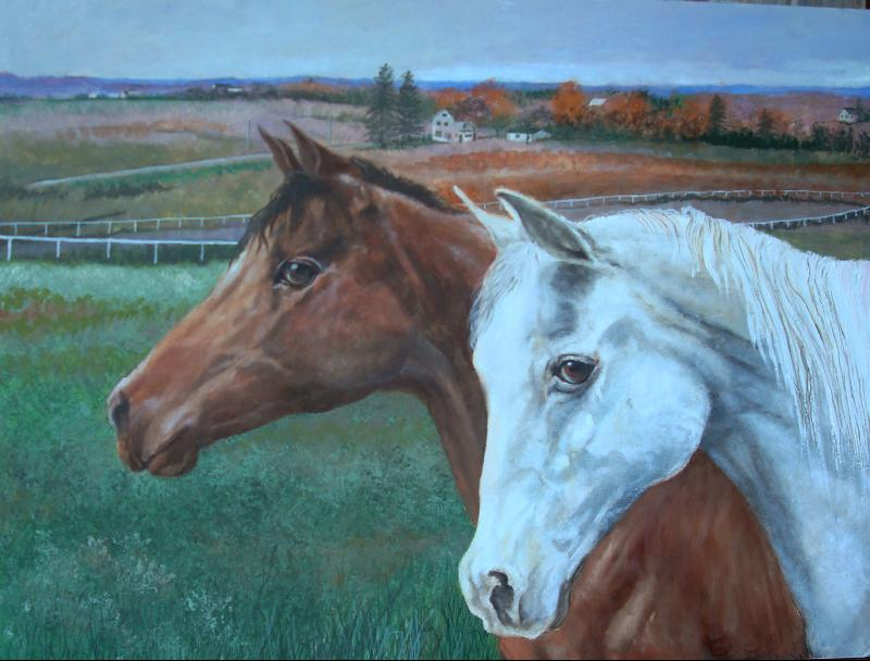 Painting that was donated to BMP Humane Society fund raiser done by Carolyn Carr