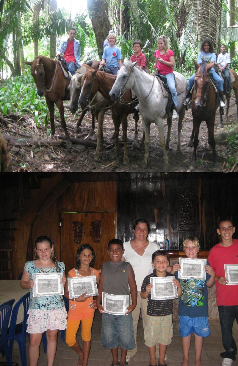 Top : Jungle trail ride  Bottom : Certified Family Horse Camp (Advanced)