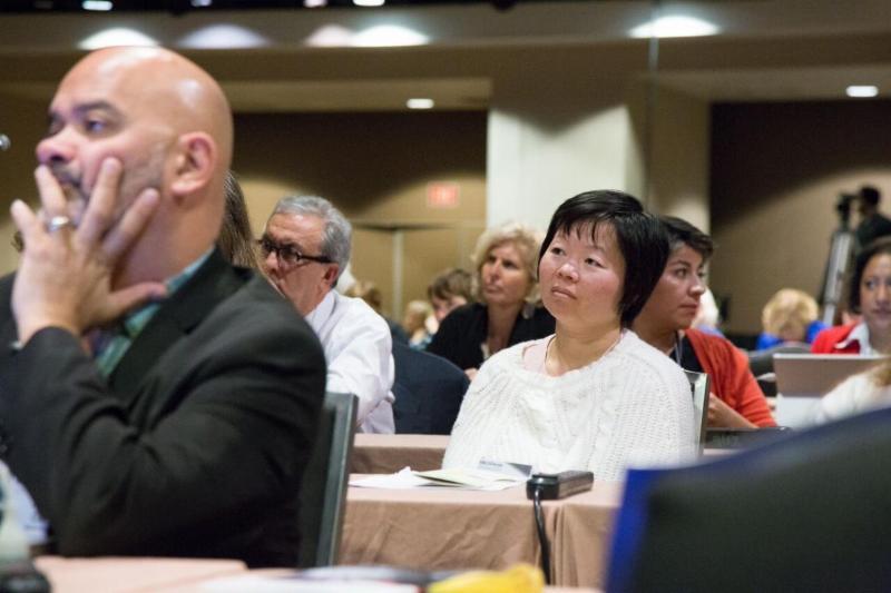 IMLS Focus participants listen to plenary speakers.