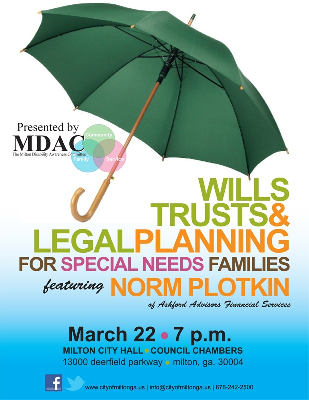 Legal planning flyer