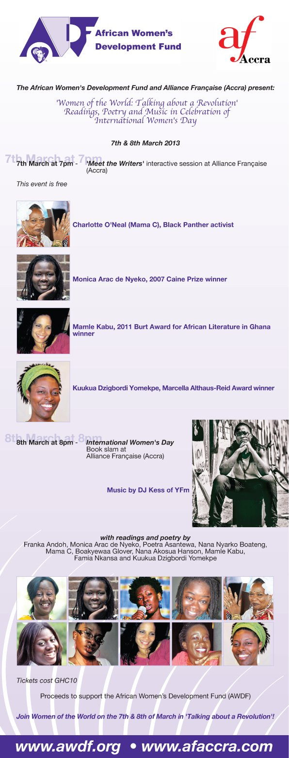 AWDF and AF's International Women's Day flyer