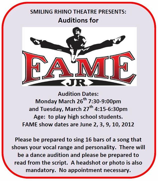 fame jr auditions
