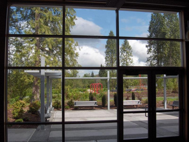 Windows to patio from Weikel Room
