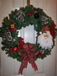 Christmas wreath with Santa