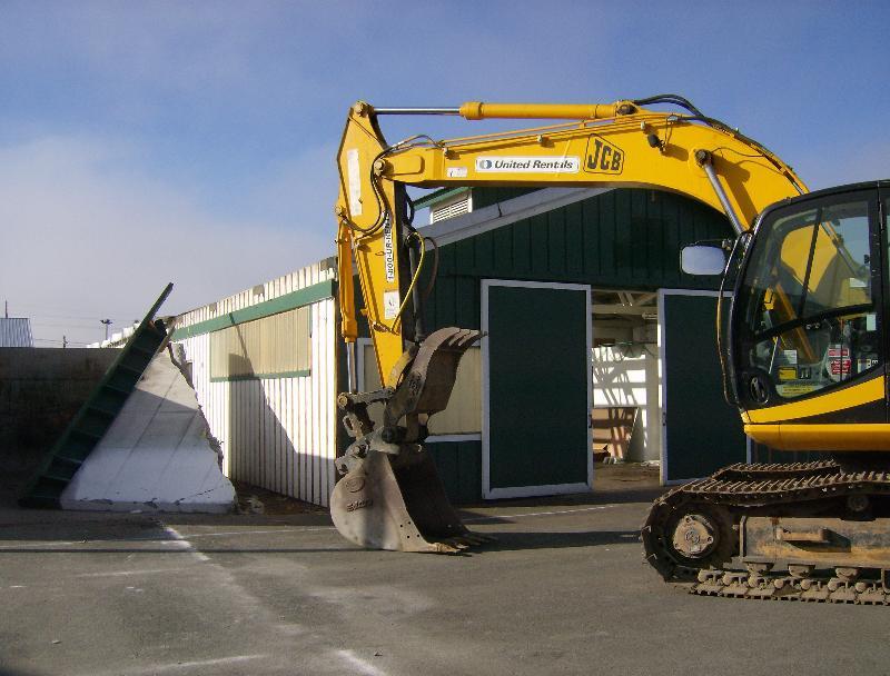 Fairgrounds building demolition