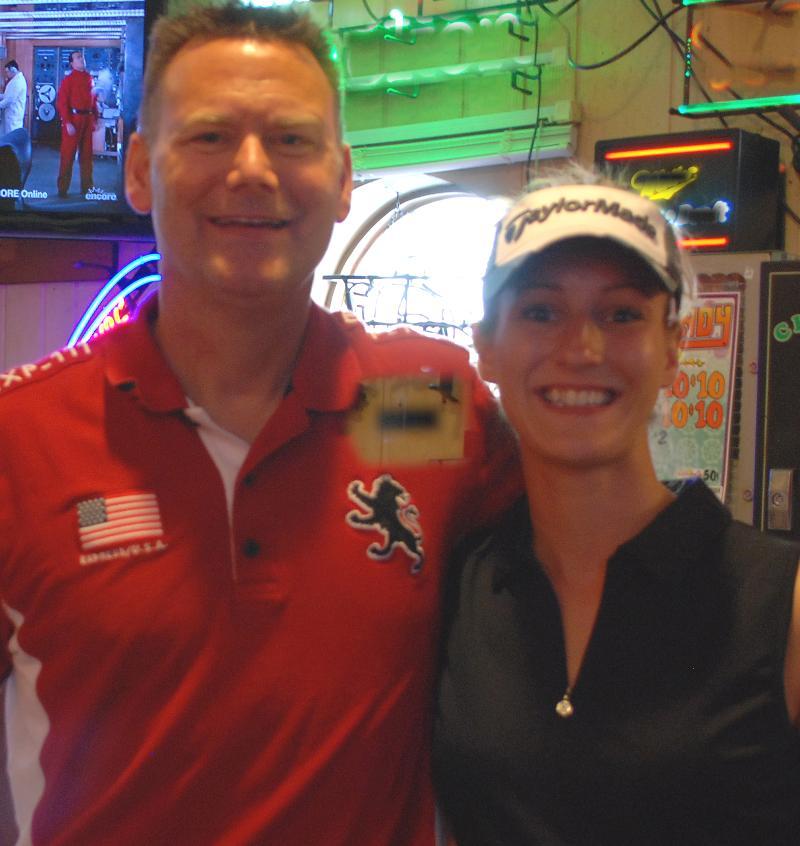 Tom Teigen & Heather Bacon at benefit golf tournament