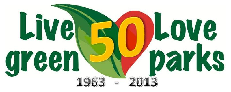 Parks 50th Anniversary logo