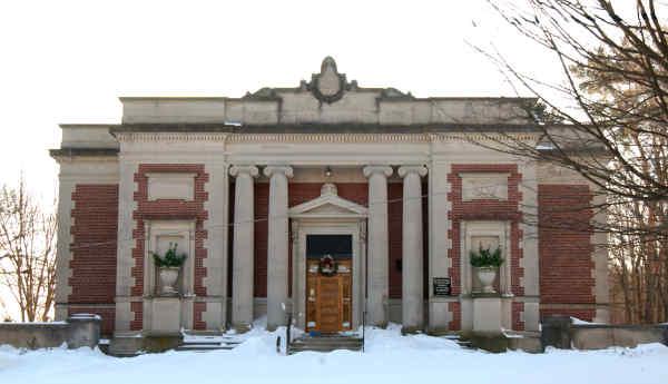 Milton Library in Winter