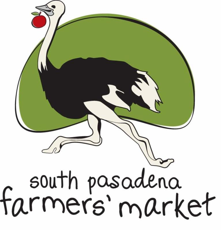 Farmers Market Logo - Ostrich on Green Background