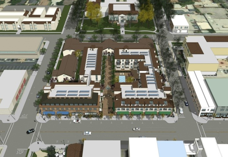 Aerial Image of the Proposed Mission Place Project