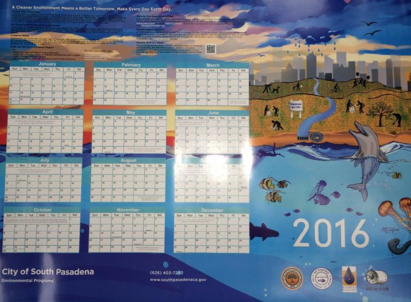 2016 Environmental Calendar